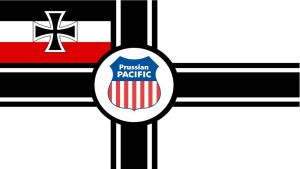 Prussian Pacific Railroad Flag. by spencerbt123