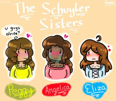 Doodle - The Schuyler Sisters (Chibi-ish??) by PamBlu