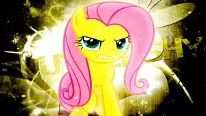 Assertive Fluttershy Wallpaper by TygerxL