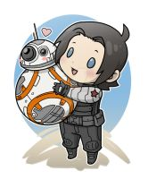 Bucky and BB8 by DeanGrayson
