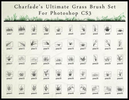 The Ultimate Grass Brush Set by charfade