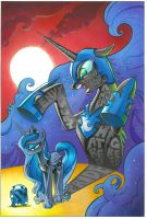Luna's Curse - MLP issue 8 cover by andypriceart
