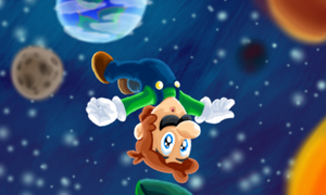 Super Luigi Galaxy by SmashToons
