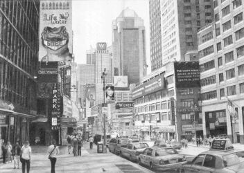 Times Square Finished by Delichon