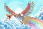 Pride Month Rainbow Birb by PitchBlackEspresso