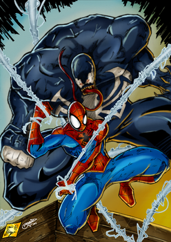 Spider-Man and Venom Colorjob by BouncieD