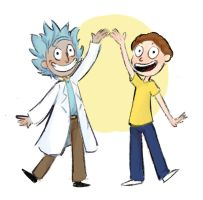 Tiny Rick And Morty by MushroomMoon