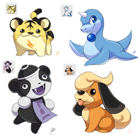 Pokemon Gold Beta Doodles by Seyumei