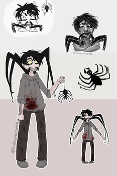 Mister Cweepy Spider Doodles by smolpeachsoda
