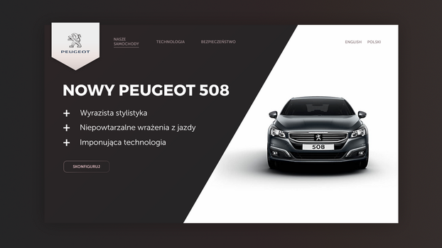 Peugeot landing page by lothar1410