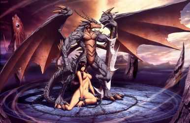 Dragon and Slave by GENZOMAN