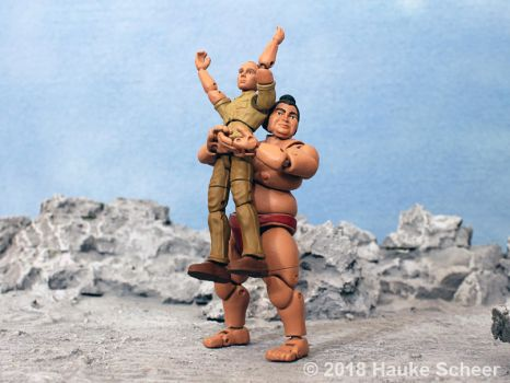 3D printed Sumo action figure pose M by hauke3000