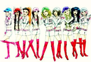 Naruto girls as SNSD by Amira-Amilia