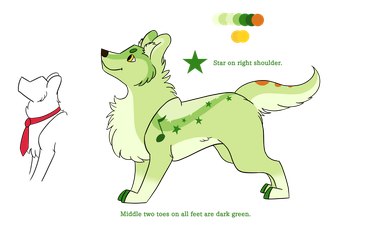 Green Puppy by SilverAlphess