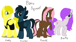Pony Squad by NekoRockStarNinja