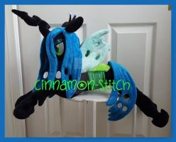 mlp plushie commision Queen Chrysalis by CINNAMON-STITCH