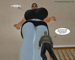 Giantess Erodreams2 - Preview - Angie's House 01 by ilayhu2