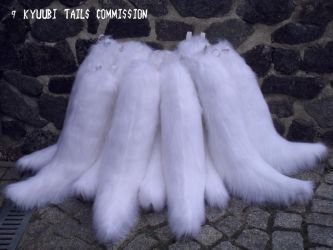kyuubi tail set by TabbyPaw