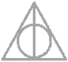 Deathly Hallows Symbol Patch Cross Stitch Pattern by rhaben