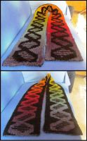 Double Knitted DNA Scarf by AllSunday10