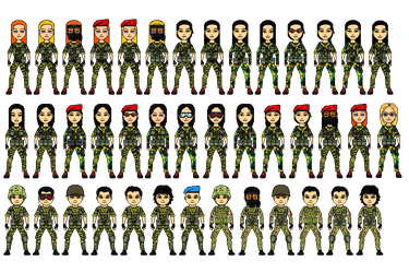 GarForce Special Forces Personnel (2nd Teen) by maskedlion3
