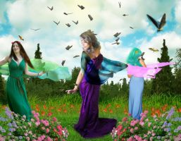 Butterfly Ladies by Aysha1994raven