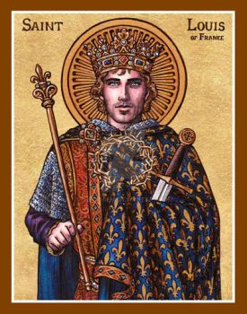 St. Louis of France icon by Theophilia