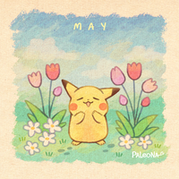 Monthly Pikachu - May by Paleona