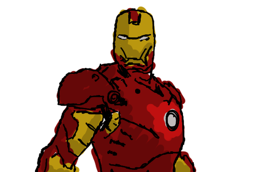 Iron Man: Super Speedy Speed Paint (Coloured) by 49crystal