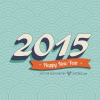 Vintage 2015 New Year Free Vector by vecree