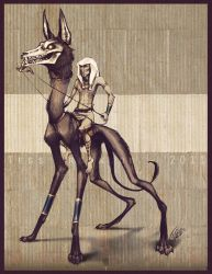 The Pharoah's Hunting Dog by f0xyme