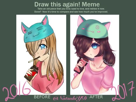 Draw this again meme by NatsukiYD