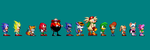 Sonic 1 Sprites: Character Group by Team-Lava