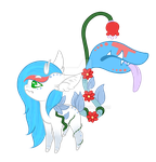 Flower Fawn: Daeva and Medic by PrinceCeres