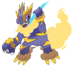 Collaboration Fakemon Zeustrike by Phatmon