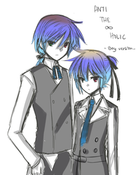 Doodle of Ren and Len by Azelilia