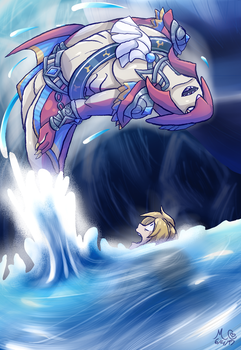 Prince Sidon and Link by TwilightMoon1996