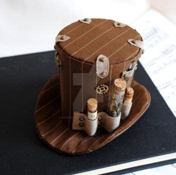 The Watchmaker's Steampunk Mini Top Hat by RagDolliesMadhouse