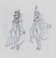 OC - Fortuo (left) Freya (right) by snoop19922002