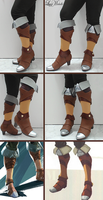 PROGRESS: Zeldas's Boots from Breath of the Wild by LayzeMichelle