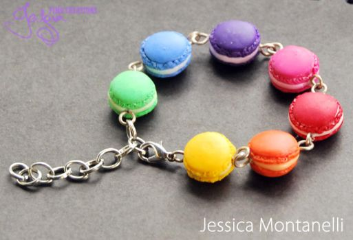 Rainbow Macarons - Bracelet by Jeyam-PClay