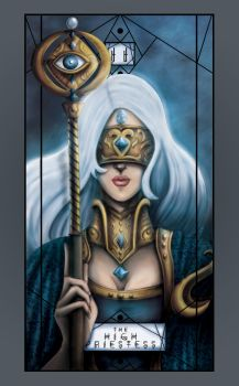 Tarot Major Arcana - The High Priestess by Hayele