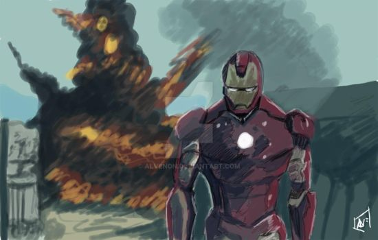 Iron Man Sketch by alvenon