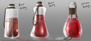 Concept Art - Healing Potions by Chaos--Child