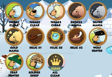 [Hungry and sheep] All Achievement Badge design by caofgames