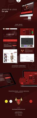 Website and logo for sale by MYeSportdesign