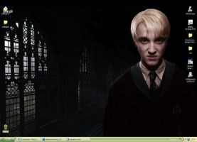 HP6-Draco Malfoy Wallpaper 05 by Dhesia