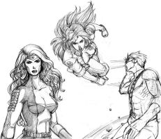 X Men sketches by EllieVyle