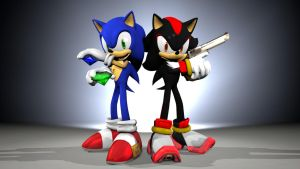 Sonic n' Shadow [Wallpaper Attempt] by TheRiverKruse