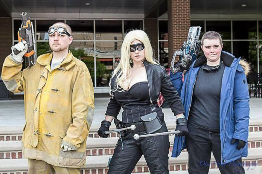Heat Wave, Canary, and Captain Cold by LadySuitengu